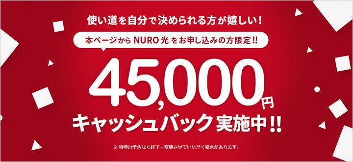 NURO光キャッシュバックキャンペーンガイド